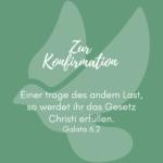 Zur Konfirmation grün