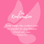 Zur Konfirmation pink