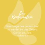 Zur Konfirmation gelb