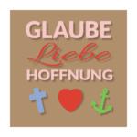 Glaube-Liebe-Hoffnung - hellbraun -