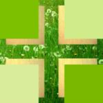 Kreuz - Wiese-gold -
